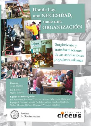 Libro Donde hay una necesidad nace una organización CICCUS