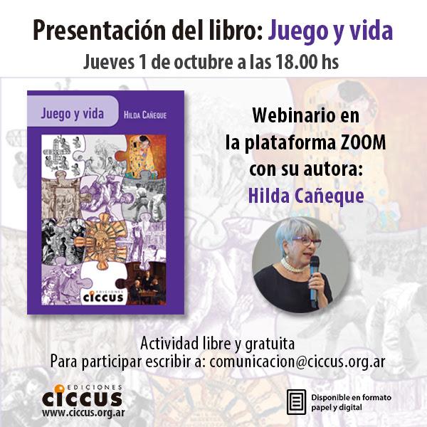 Webinar Juego y vida por Hilda Cañeque