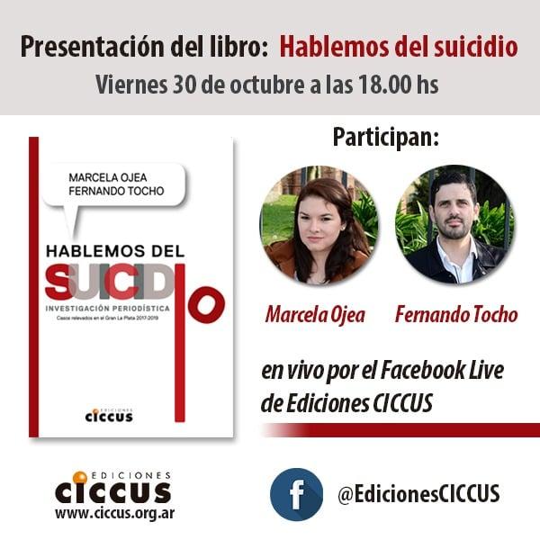 Presentación del libro Hablemos del suicidio