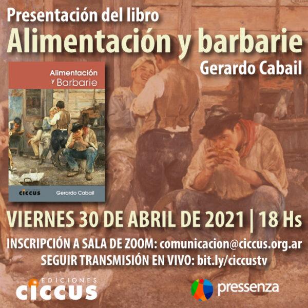 Presentación del libro «Alimentación y barbarie»