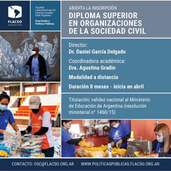 Abierta la Inscripción – ciclo 2021 – Diploma Superior en Organizaciones de la Sociedad Civil