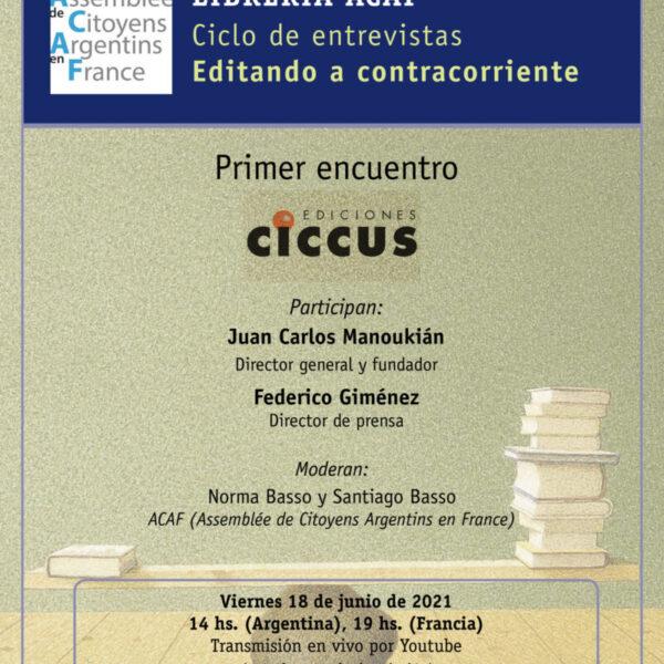 """Ciclo de entrevistas """"Editando a contracorriente"""" Librería ACAF"""