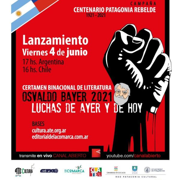 """Lanzamiento del Certamen Binacional de Literatura """"Osvaldo Bayer"""" 2021"""
