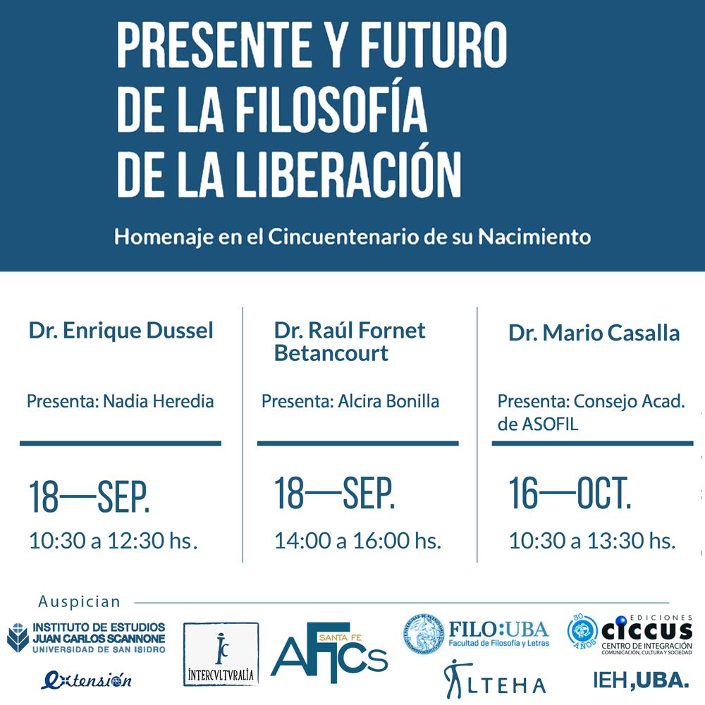 PRESENTE Y FUTURO DE LA FILOSOFIA DE LA LIBERACION